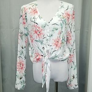 Fifteen Twenty - Tie Knot Front Floral NWT